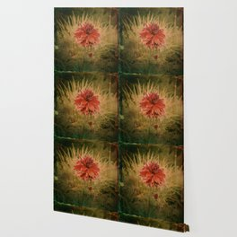 Hand painted vintage flower Wallpaper