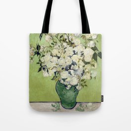 Vase of Roses by Vincent Van Gogh Tote Bag