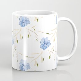 Blue Flora Garland Coffee Mug