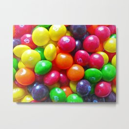 Colorful Chewy Candy Metal Print