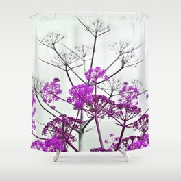 WILDFLOWERS in RED Shower Curtain