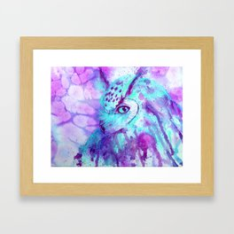purple owl Framed Art Print