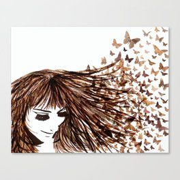 You Give Me Butterflies Canvas Print