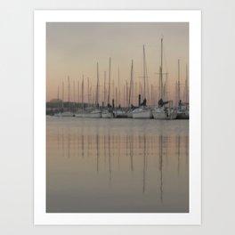 Reflection ~ at the dock Art Print