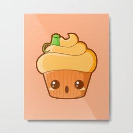 Spooky Cupcake - Pumpkin Metal Print