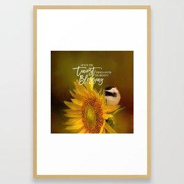 Tiny Surprise Framed Art Print