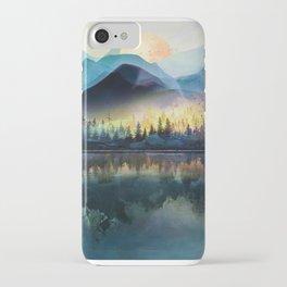 Mountain Lake Under Sunrise iPhone Case