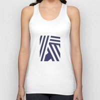 nautical Tank Tops featuring Nautical Stripes by Charlene McCoy