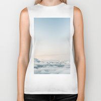 aviation Biker Tanks featuring Cloudscape by Kristina Jovanova