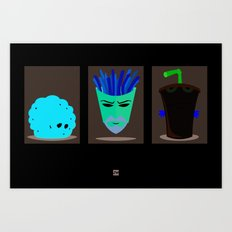Minimalist Aqua Teen Hunger Force Art Print