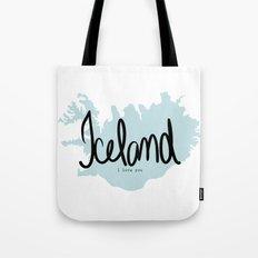 Iceland love Tote Bag