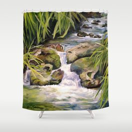 Water Oasis Shower Curtain