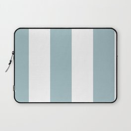 5th Avenue Stripe No. 3 in Robin's Egg Blue and White Onyx Laptop Sleeve
