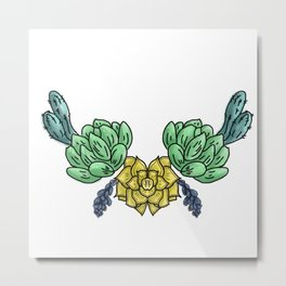 cacti and flowers ( https://society6.com/totalflora/collection ) Metal Print