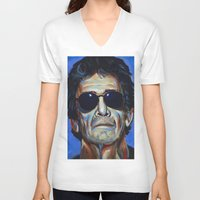 lou reed V-neck T-shirts featuring Lou Reed by Buffalo Bonker