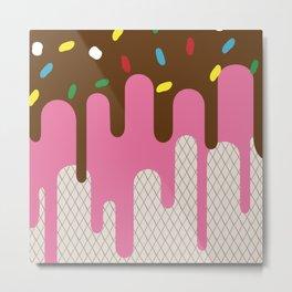 The ice-donut Metal Print