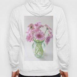 Pink Gerberas In A Vase  Hoody