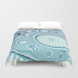Sea Blue coastal art Duvet Cover