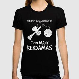 Funny Japanese Game Too Many Kendamas print T-shirt