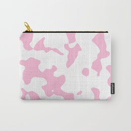Large Spots - White and Cotton Candy Pink Carry-All Pouch