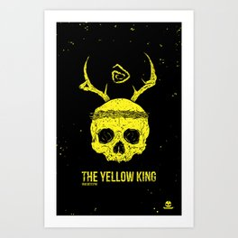 The Yellow King Art Print