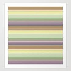 A simple striped pattern Art Print