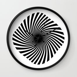 Twisted Lines Black & White Wall Clock