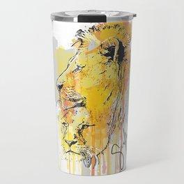 Lion pair Travel Mug