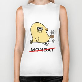 I Hate Monday Early Bird Coffee Lover Ornithologist Gift Biker Tank
