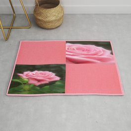 Pink Roses in Anzures 3 Blank Q11F0 Rug