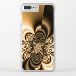 pattern coffee and milk Clear iPhone Case