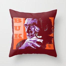 Charles Bukowski - PopART Throw Pillow
