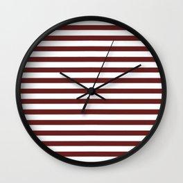 Marsala Stripes Wall Clock