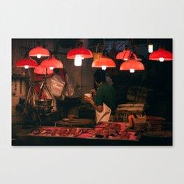 graham street market, hong kong Canvas Print