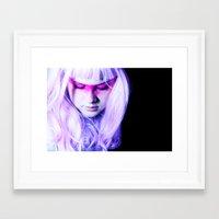 jem Framed Art Prints featuring jem by zelie