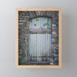 Old Blue Door II Framed Mini Art Print