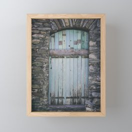 Old Blue Door II Framed Mini Art Print