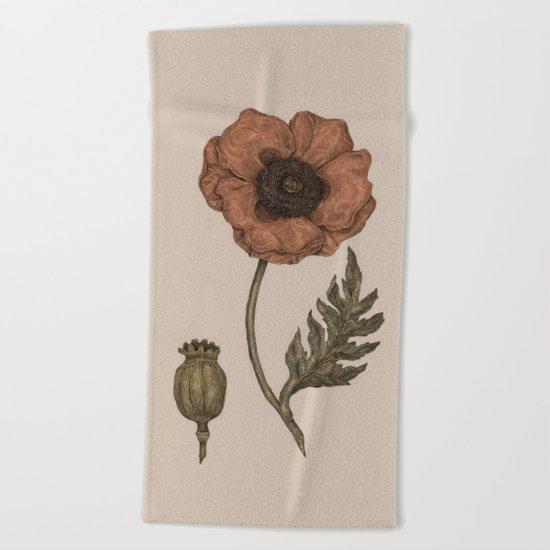 Poppy Beach Towel