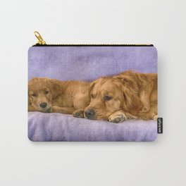 Golden Retriever with puppy Carry-All Pouch