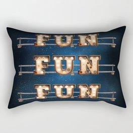Fun Fun Fun -  Wall-Art for Hotel-Rooms Rectangular Pillow