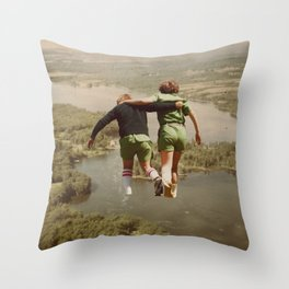 on the lake & by the sea Throw Pillow