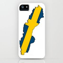 Sweden Map with Swedish Flag iPhone Case