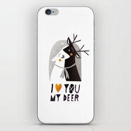 I love you my deer iPhone Skin