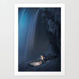 Blue Frozen Falls Art Print