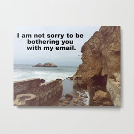 I'm not sorry to be bothering you with my email Metal Print