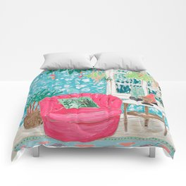 Pink Tub Chair Comforters