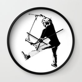 Deck Grabbing - Stunt Scooter Trick Wall Clock
