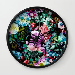 Multicolor Floral Pattern Wall Clock