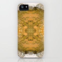 Golden Gothic Weathered Lace Mandala iPhone Case