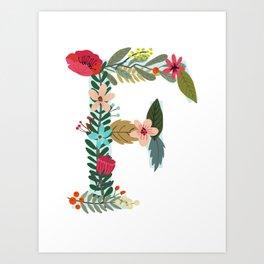 Monogram Letter F Art Print